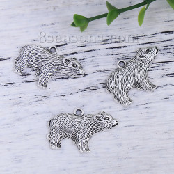Antique Silver Bear Charms