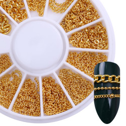 Metal Chain Nail Decoration in Wheel