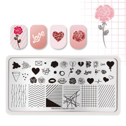 Valentines Day Nail Plates