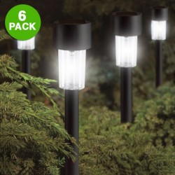Elegant Black 9 Inch Solar Garden Lights