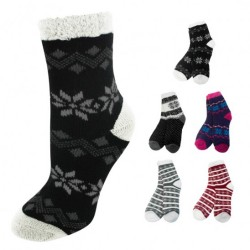 Nicole Miller Lined Double Layer Cozy Socks